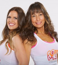 go fit gals tight head shot white shirts