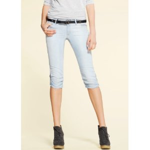 womens denim capri pants - Pi Pants